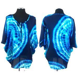 🆕 Jones New York - Tie Dye Pullover Flutter Top